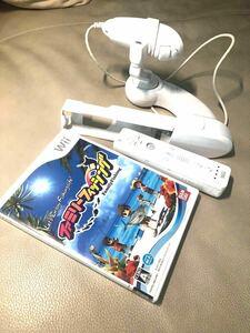 【Wii】 ファミリーフィッシング 竿コン リモコン ヌンチャク付き セット