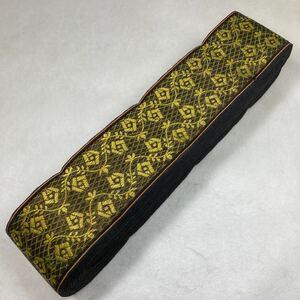 セール品 黒金薔薇紋 5m畳ヘリ畳へり畳縁和風柄着物ハンドメイド