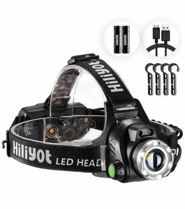 ヘッドライト【2021進化版】 LEDヘッドランプ アウトドア用ヘッドライト