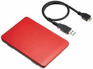 玄人志向 USB3.0 玄人志向 SSD/HDDケース(レッド) 2.5型 接続