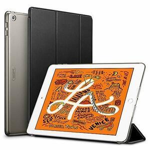 新品ブラック ESR iPad Mini 5 2019 ケース 軽量 薄型 PU レザー スマート カバー 耐衝撃 5YAZ