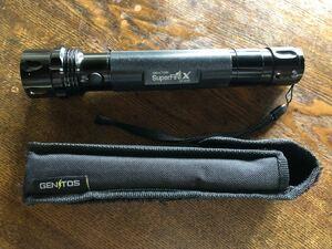 ジェントスGENTOS スーパーファイヤーX SFー503X /Panasonicニッケル水素単2電池(3個)付!