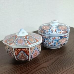 錦松梅 蓋付き陶器 2個セット
