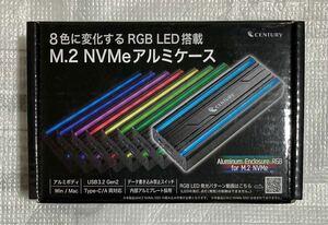センチュリー 高速USB C 3.2 M.2 NVMe 外付けSSD 変換アダプタ CAM2NVU32CRGB PS5動作確認済