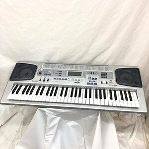 中古 CASIO カシオ 電子キーボード タッチレスポンス CTK-591 シルバー 61鍵盤 電子ピアノ 鍵盤楽器 アダプター付き H15804