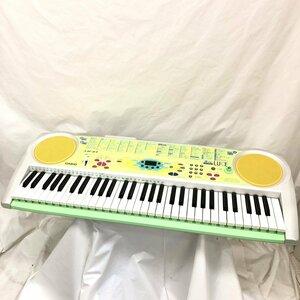 中古 CASIO カシオ 電子キーボード LK-37 光ナビゲーション ルーチェ ポップカラー グリーン系 マルチカラー 61鍵盤 電子ピアノ H15806