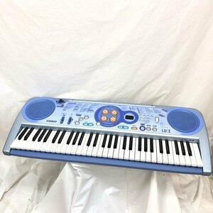中古 CASIO カシオ 電子キーボード 光ナビゲーション LK-39 鍵盤61 ブルー系 ポップカラー 鍵盤楽器 電子ピアノ アダプター付き H15807
