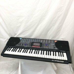 中古 CASIO カシオ 電子キーボード 光ナビゲーション CTK-620L 61鍵盤 ブラック 電子ピアノ 鍵盤楽器 アダプター付き H15844