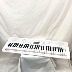 中古 CASIO カシオ 電子キーボード 光ナビゲーション LK-115 タッチレスポンス ピンク 61鍵盤 電子ピアノ 鍵盤楽器 アダプター付き H15842