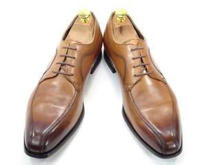 即決 madras 25.0cm スワールトゥ マドラス メンズ 茶 ブラウン 本革 ビジネス 本皮 レザーシューズ 革靴 スワールモカ 通勤 高級紳士靴