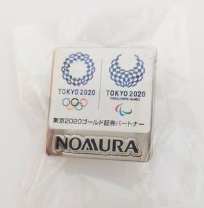東京2020 オリンピック パラリンピック ピンバッジ 野村證券 シルバー