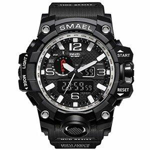 腕時計 メンズ SMAEL腕時計 メンズウォッチ 防水 スポーツウォッチ アナログ表示 デジタル クオーツ腕時計 多