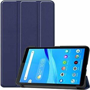 ブルー Gosento Lenovo Tab M7 ケース スタンド機能付き 開閉式三つ折薄型スタンドケース PUレザー Len