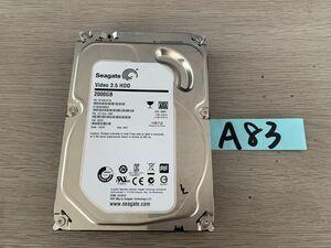 送料無料 Seagate Video HDD ST2000VM003-1CT164 2TB 3.5インチ SATA HDD2TB 使用時間5078H★ビデオ等用A83