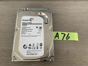 送料無料 Seagate Video HDD ST2000VM003-1CT164 2TB 3.5インチ SATA HDD2TB 使用時間2208H★ビデオ等用A76