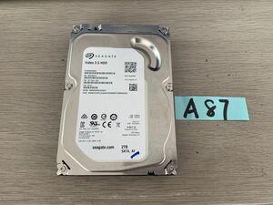 送料無料 Seagate Video HDD ST2000VM003-1ET164 2TB 3.5インチ SATA HDD2TB 使用時間4183H★ビデオ等用A87