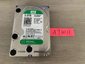 送料無料 Western Digital WD30EZRX Green 3TB 3.5インチ SATA HDD3TB 使用時間4334H★A93011
