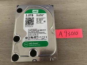 送料無料 Western Digital WD30EZRX Green 3TB 3.5インチ SATA HDD3TB 使用時間762H★A93010