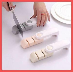 【新品】包丁研ぎ器 シャープナー セラミック砥石 仕上げ 2in1 シャープナー 包丁研ぎ すべり止め付き ナイフ 包丁 仕上げ