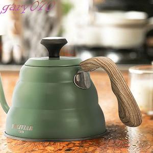 【珍しいデザイン】 グリーン ドリップポット コーヒー ドリッパー IH対応 ガス火 ドリップケトル やかん オシャレ