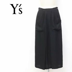 ◆Y's/ワイズ ヨウジヤマモト フロントタック ロング スカート ブラック