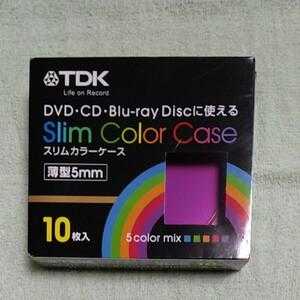 TDK.スリムカラーケース、5mm、10枚