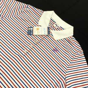 【未使用】タグ付 FILA フィラ ゴルフ ポロシャツ サイズO 半袖 吸汗 速乾 UVカット サラサラ生地 レディース 大きいサイズ 白 赤 青 刺繍