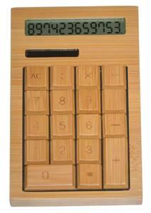 送料無料!★竹製 電卓 ソーラー式 【12桁】 おしゃれで使いやすいカリキュレーター★