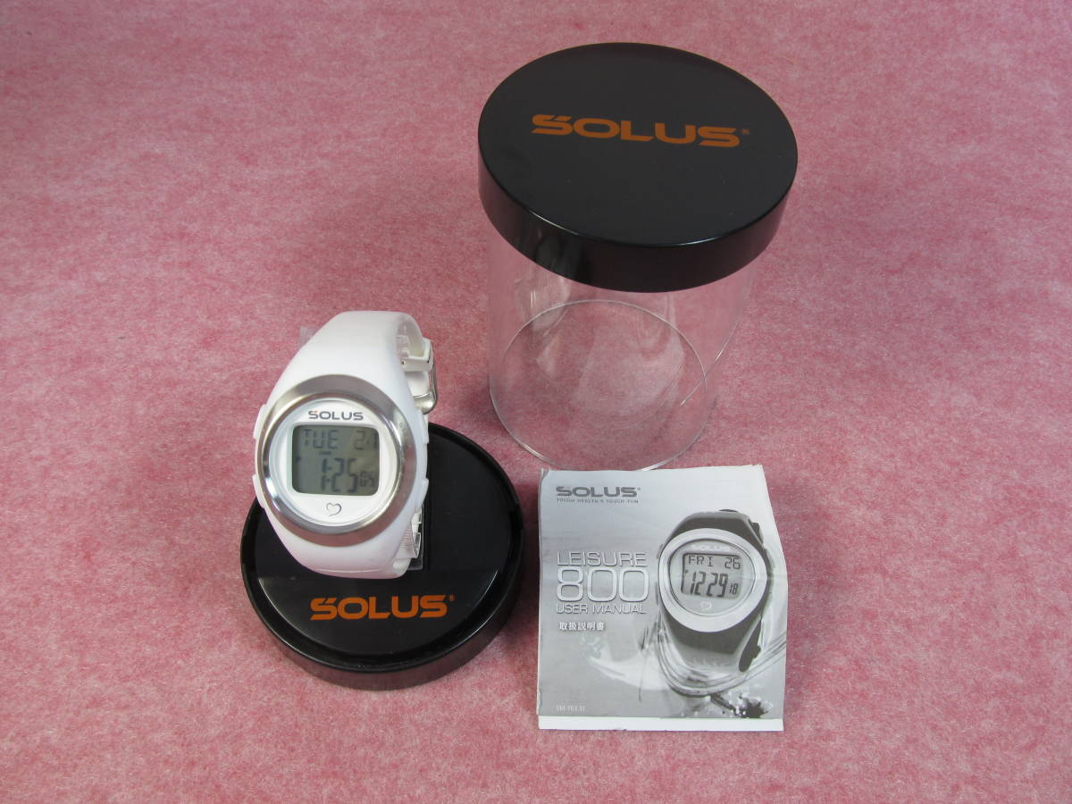 SOLUS Leisure800 ソーラス 腕時計 レジャー 800 ホワイト ダイエット 健康維持