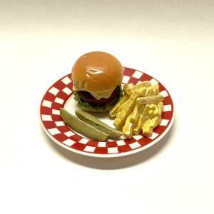 送料無料! リーメント ■激レア USA版 FunMeals ハンバーガー■ ぷちサンプル ミニチュア 食玩 フィギュア A16