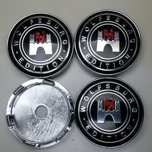[VW] フォルクスワーゲン ヴォルフスブルク 60mm ホイール センターキャップ 4個セット ティグアン パサート アップ タイプⅡ アルテオン