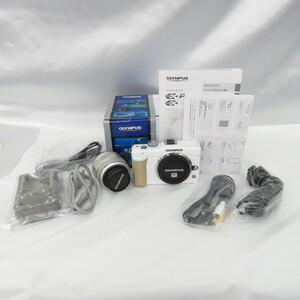 【中古品】OLYMPUS オリンパス ミラーレス一眼レフカメラ PEN ペン Lite E-PL1s レンズキット シルバー/ホワイト 10838615