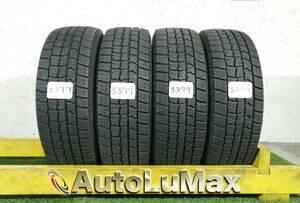 S377. 185/60R15 DUNLOP WINTERMAXX WM02 中古 スタッドレスタイヤ 4本セット ダンロップ ウィンターマックス