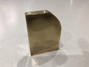 真鍮板 86~55mm×60mm×14mm 黄銅板 端材 アクセサリー・ハンドメイド 【スマートレター発送 180円】