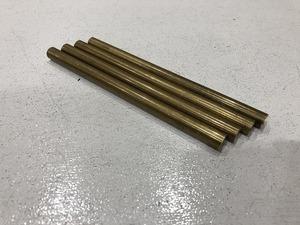 【4本セット】真鍮棒 φ10mm×長さ150mm  真鍮丸棒 端材 工作 ハンドメイド アクセサリー【スマートレター発送 180円】