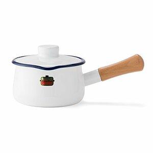 ホワイト 富士ホーロー 片手鍋 ミルクパン ソリッド 15cm ホワイト SD15MW