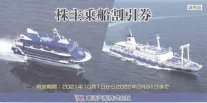 東海汽船株主優待 乗船割引券20枚+株主サービス券1冊