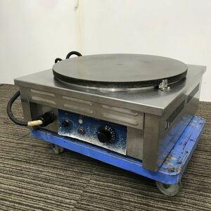 ニチワ 電気クレープ焼き器 中古 1ヶ月保証 年式不明 CM-410H 単相200V 業務用 厨房