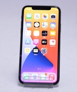 Apple アップル iPhoneX 256GB NQC12J/A AU 修理交換品 スペースグレイ ∫U8442