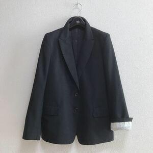 MARGARET HOWELL マーガレットハウエル◆二つボタン テーラードジャケット サイズ2 II 黒ブラック◆ウール素材 アウター レディース