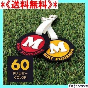 《送料無料》 イニシャルバッグタグ60PUレザーCOLOR ゴルフ から製作 ネームプレート ゴルフ ネームプレート刻印 136