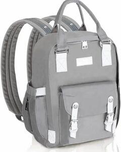 マザーズバッグ リュック 保温ポケット 大容量 ベビー用品収納 グレー
