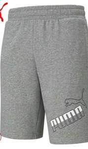 ハーフパンツ プーマ ビッグロゴ 10インチショーツ パンツ PUMA 新品 メンズ 2XL スポーツ ゴルフ ウェア ショーツ パンツ 伸縮性 短パン