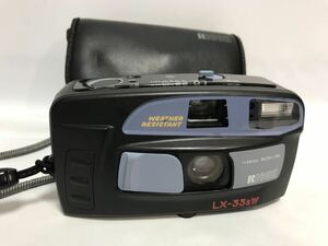 動作確認 RICOH/リコー LX-33sW DATE コンパクトフィルムカメラ ケース付 1122o0350