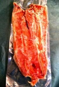 脂ジュージューっと!めちゃうまっ! 紅鮭の減少で今では貴重な 『紅鮭のハラス』 500g入/真空パック (税込)