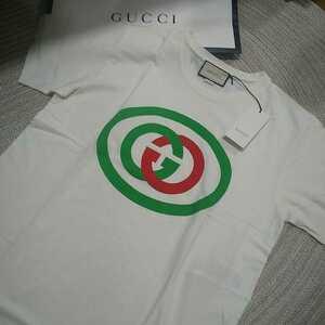 新品 未使用 GUCCI グッチ 半袖 Tシャツ GGロゴ ホワイト 白 M メンズ ビッグシルエット イタリア製