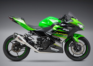 USヨシムラ US Yoshimura / ALPHA フルエキ マフラー ステンレス カーボンエンド / カワサキ Kawasaki ニンジャ 400 Ninja 250 2018-