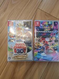 switch 新品未開封品 スーパーマリオ3Dコレクション と マリオカート8 デラックス