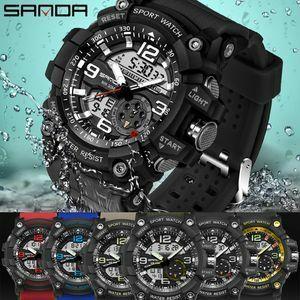 ★ 最安1円~◆ 腕時計 メンズ SANDA 海外ブランド デジタル ミリタリー 防水 LED 選べる6色 スポーツ アーミー 759 クオーツ (a407)