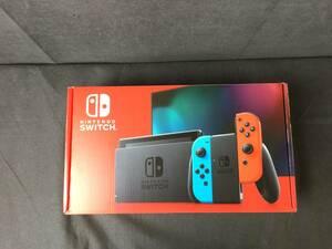 gry825 送料無料 未使用 Nintendo Switch ニンテンドースイッチ 本体 Joy-Con (L) ネオンブルー / (R) ネオンレッド 店舗印なし 破れ有